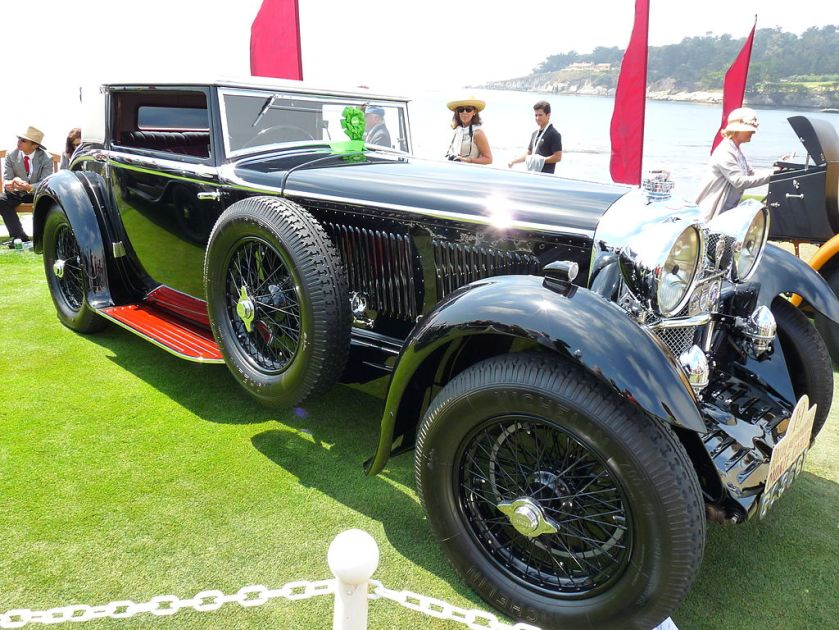 1930 Bentley Speed Six Gurney Nutting Weymann Sportsman's Coupe