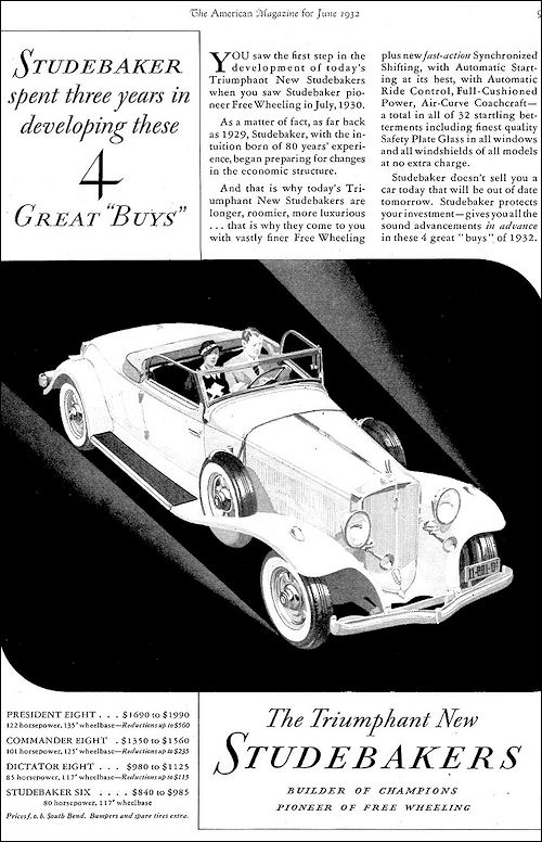 1932 Studebaker Convertible Roadster