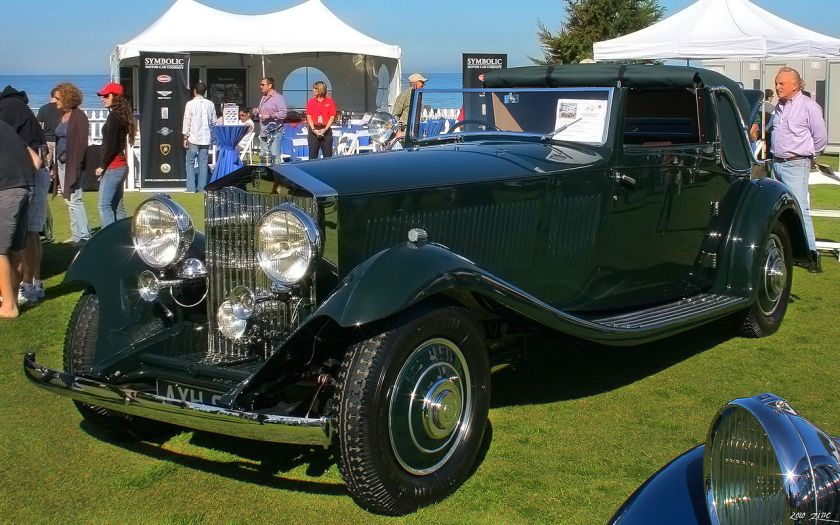 1933 Rolls-Royce Phantom II Continental Gurney Nutting Sedanca DHC green