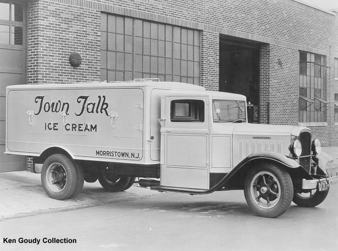 1933 Studebaker 2 Ton owned by Borden Associated Companies and being used for hauling Furnas-Velvet Ice-cream