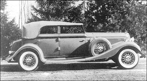 1933 Studebaker President Convertible Sedan Model 92 Speedway