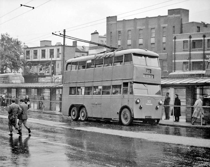 1933 Sunbeam Weymann 3 axle trolleybus, this machine had a 60 seat body