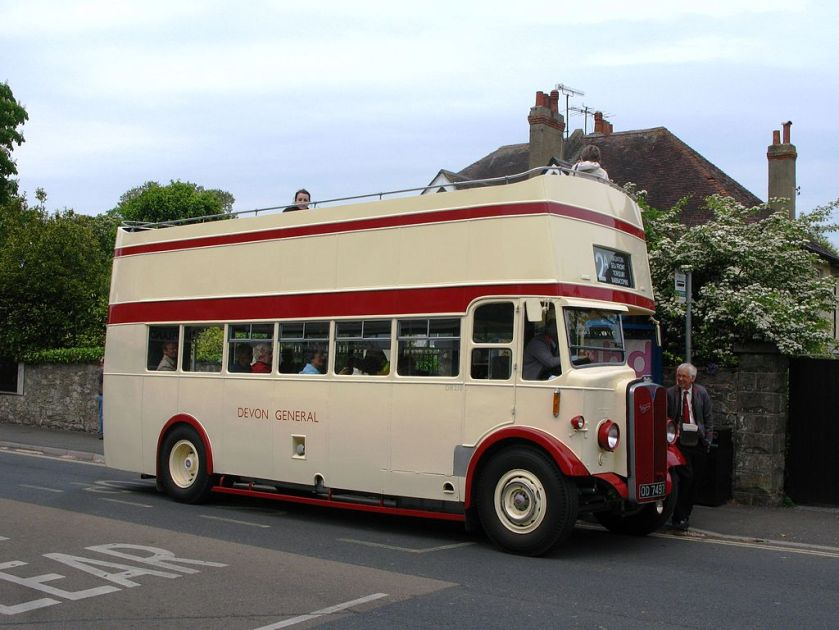 1934 AEC Regent built with a conventional double deck body by the Short Brothers a