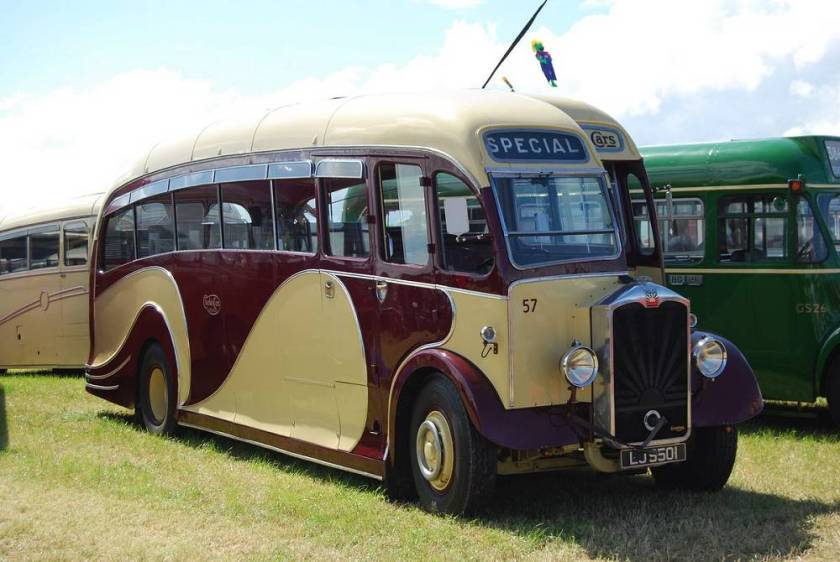 1934 Albion Valiant PV70 LJ9501 with a post war Harrington body