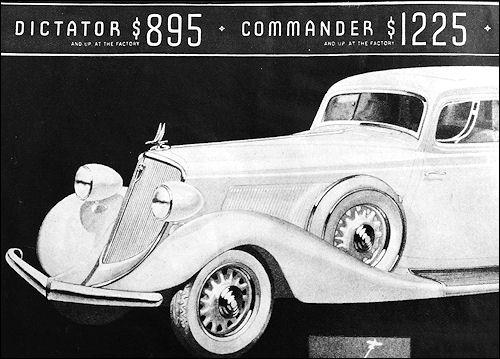 1934 studebaker Dictator&Commander
