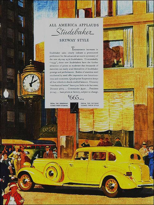 1934 Studebaker President tyl