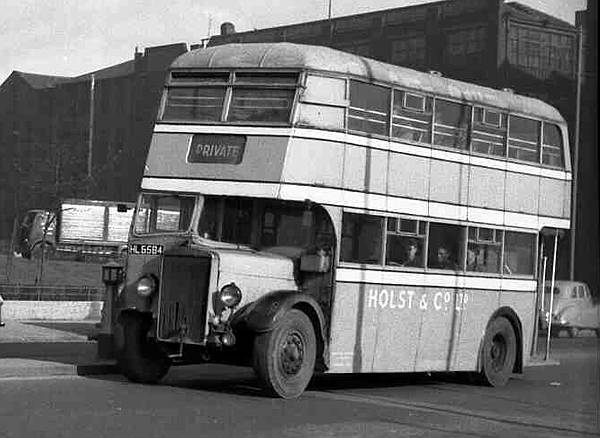 1935-1946 Leyland TD3, had a Leyland L27-24R body. It was rebodied with a Barnaby L27-28R body during the war