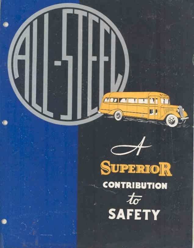 1935 Ford Chevrolet Superior School Bus Brochure