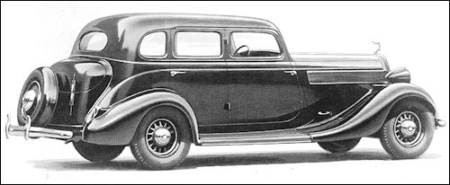 1935 Studebaker President Custom Sedan Six Pass