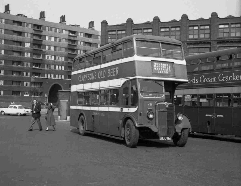 1936 AEC Regent, originally with L.P.T.B. H30-26R rebodied in May 1956 with the 1947 Strachan L27-28R body, rebodied by Roe