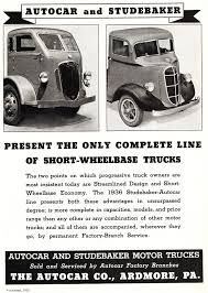 1936 Autocar and Studebaker Trucks