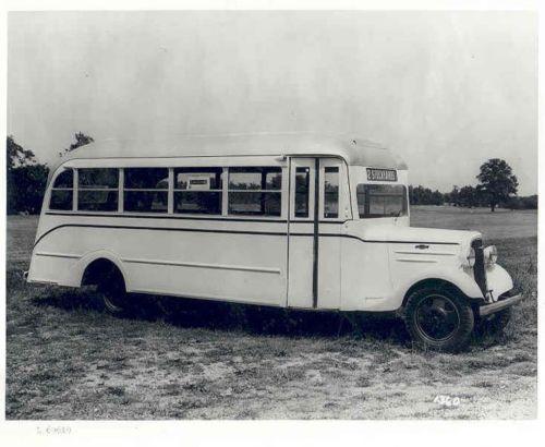 1936 Chevrolet Superior School Bus Factory Photo