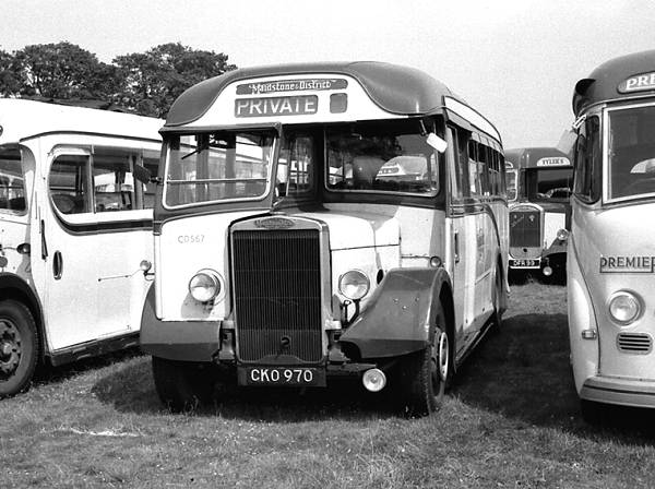 1936 Leyland TS7 Tiger which had been rebodied in 1950 with a Harrington C32F body