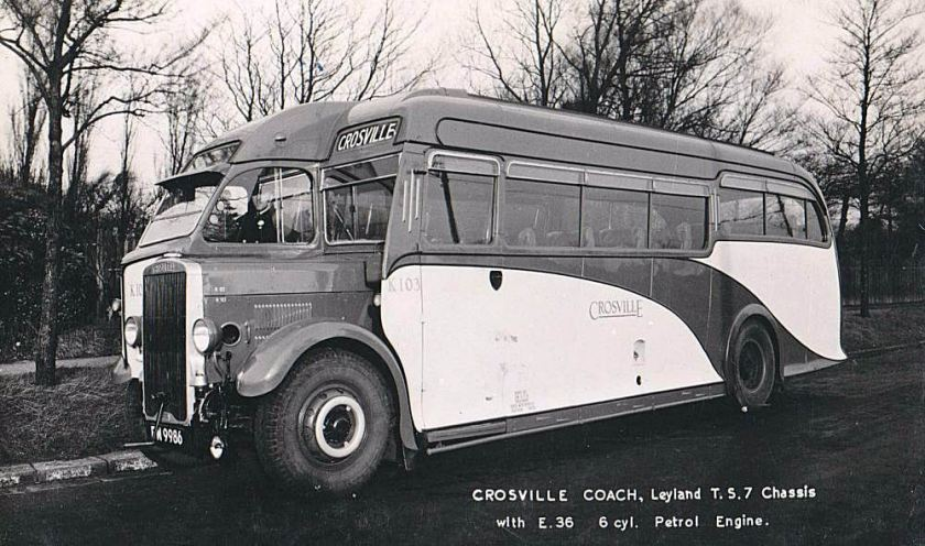 1936 Leyland TS7 with Harrington 32 seat coach body