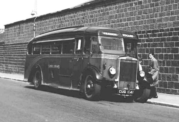 1936 Samuel Ledgard CUG841 seen here at Yeadon is a Leyland TS7 with an English Electric C32F body