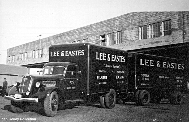 1936 Studebaker truck and trailer at the Westside Auto Frieght Depot in Portland