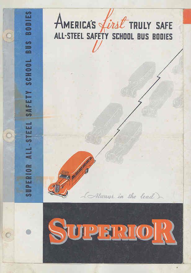 1936 Superior Pioneer School Bus Brochure