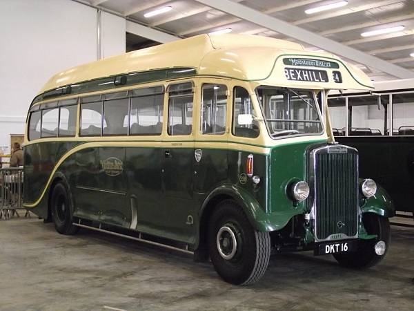 1937 Leyland Tiger TS7 with a Harrington C32F body, rebuilt by them in 1950