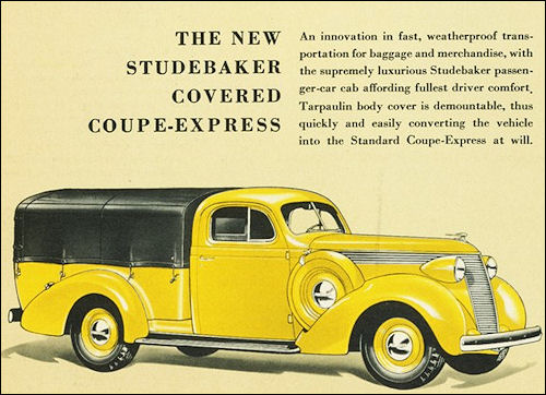1937 Studebaker Coupe-Express covered