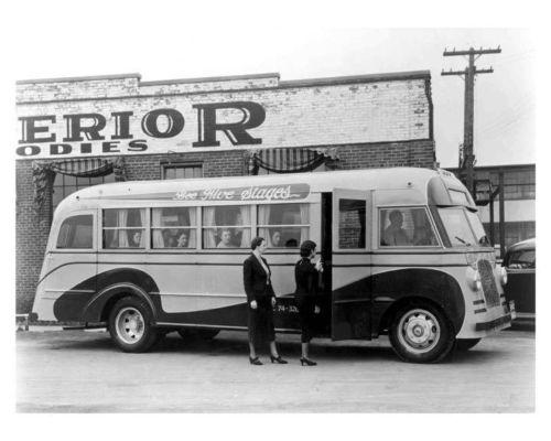 1937 Studebaker J25MB Superior Bus Photo Poster