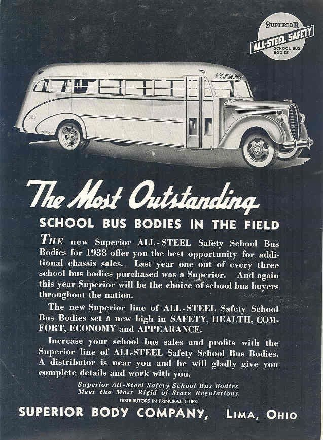1938 Ford Superior School Bus Ad