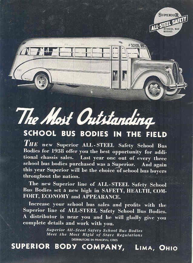 1938 Ford Superior School Bus Ad