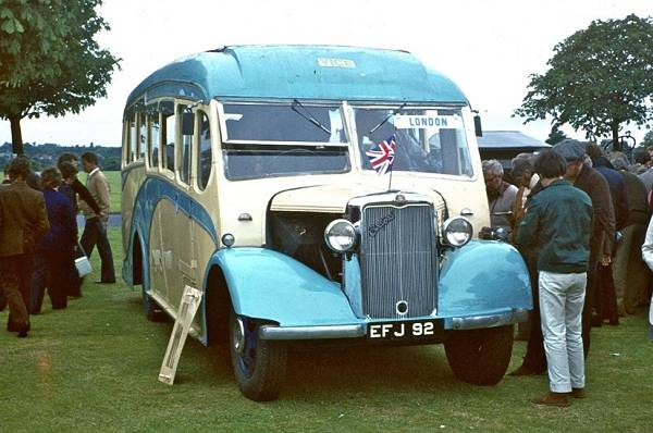 1939 Bedford WTB with a Heaver C25F body