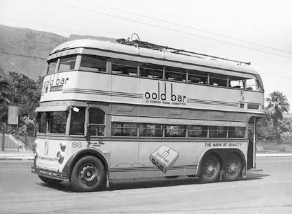 1940 Sunbeam trolleybus no. 86 in Cape Town, 1940