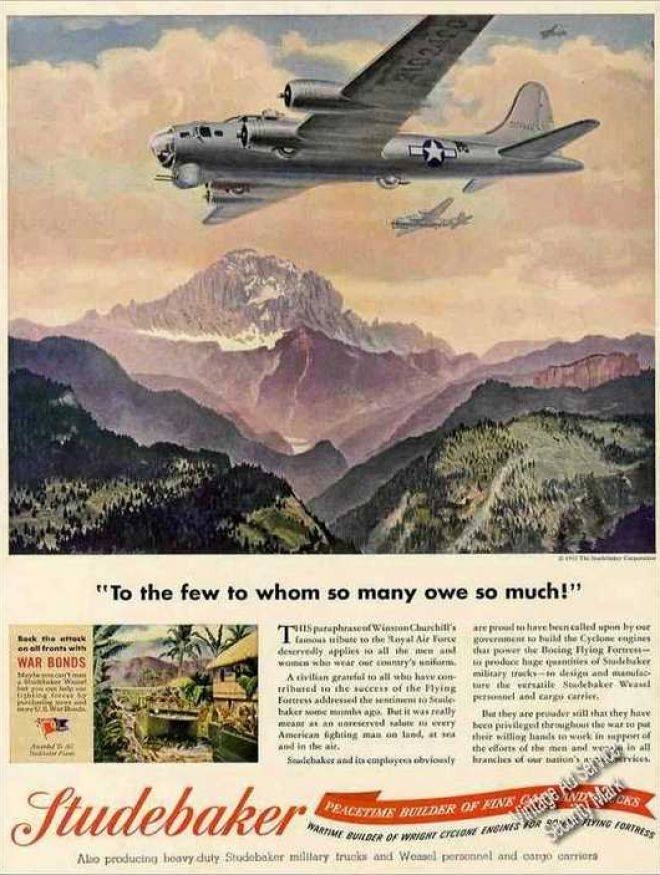 1945 ad, Studebaker B - 17.