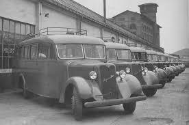 1945 autocares H-S modelo 202, carrozados por Seida para el Ejército del Aire