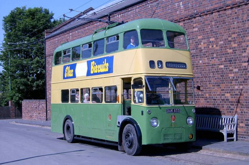 1946 Sunbeam W trolleybus, rebodied by Roe in 1959a