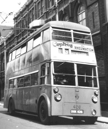 1946 W4 Sunbeam chassis fitted with a Park Royal body. It entered service with Wolverhampton Corporation Transport