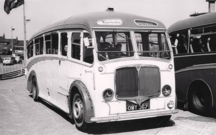 1947 Maudslay Marathon III Strachans FC33F , new with Enterprise Coaches of Kenton , Middlesex