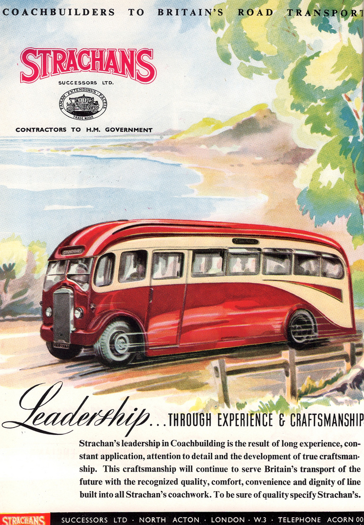 1947 Strachans Coachworks, advert