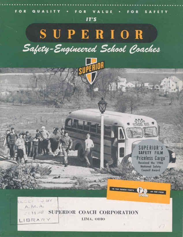 1947 Superior Pioneer School Bus Brochure