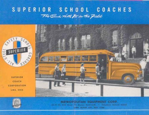 1948 Superior Pioneer School Bus Sales Brochure