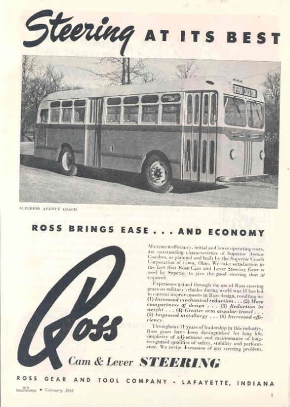 1948 Superior Transit Bus Magazine Ad