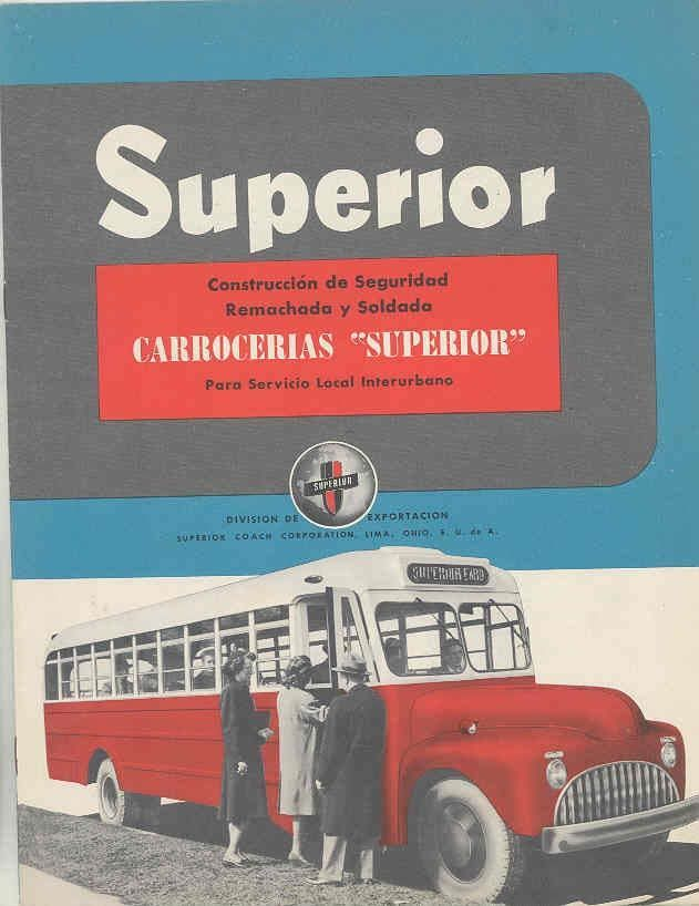 1949 Superior Reo 3000 & 3100 Intercity Bus Brochure Spanish