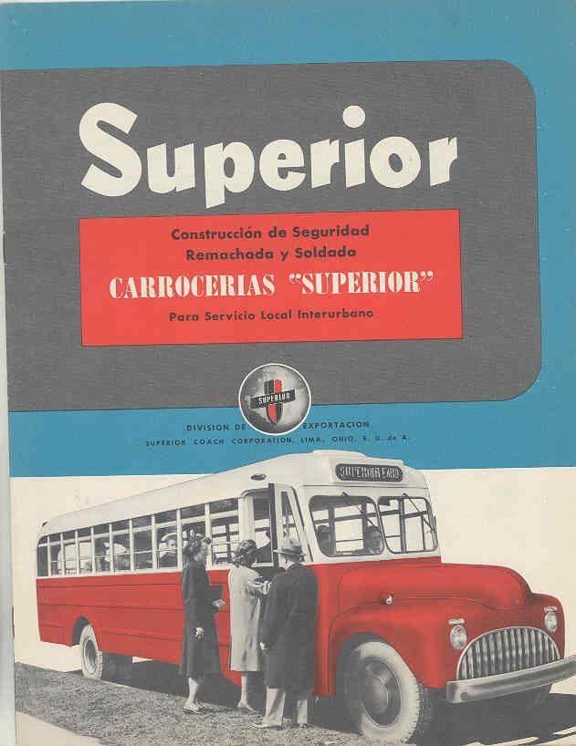 1949 Superior Reo 3000 & 3100 Intercity Bus Brochure Spanish