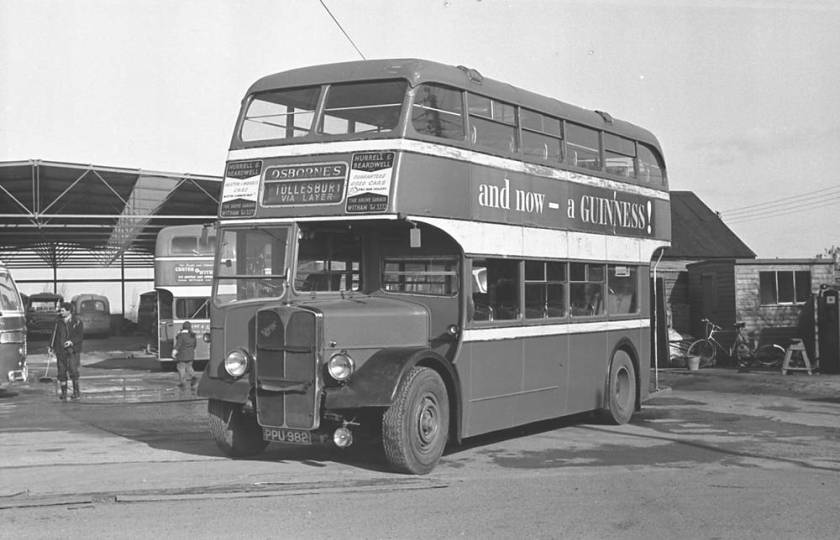 1950 A.E.C. 9612A Regent III with a Strachans L27-28R body