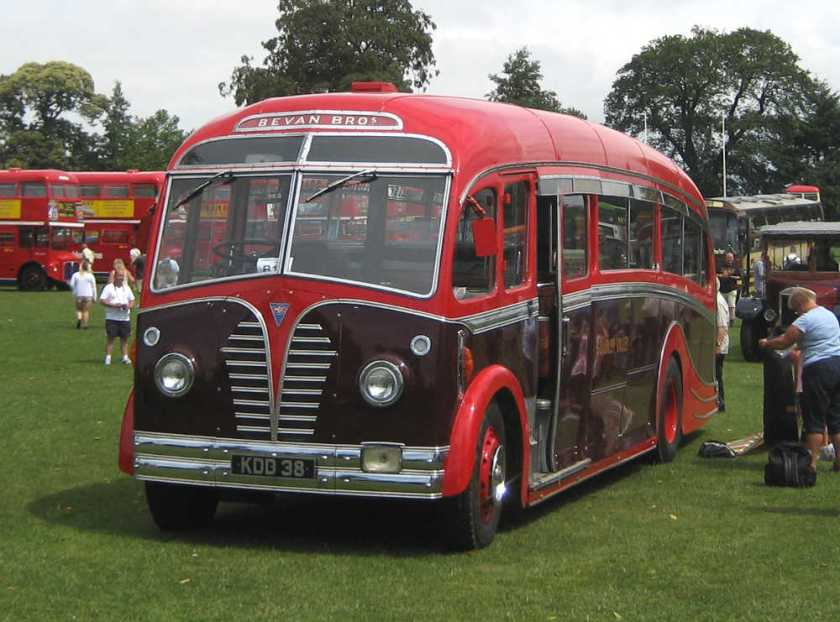 1950 AEC Regal III KDD38 with Harrington FC33F body