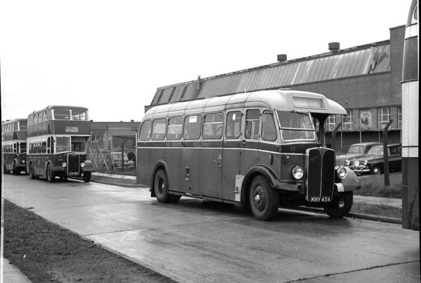 1950 AEC Regal III with Duple B35F body rebuilt by Longwell Green in 1959 for one man operation