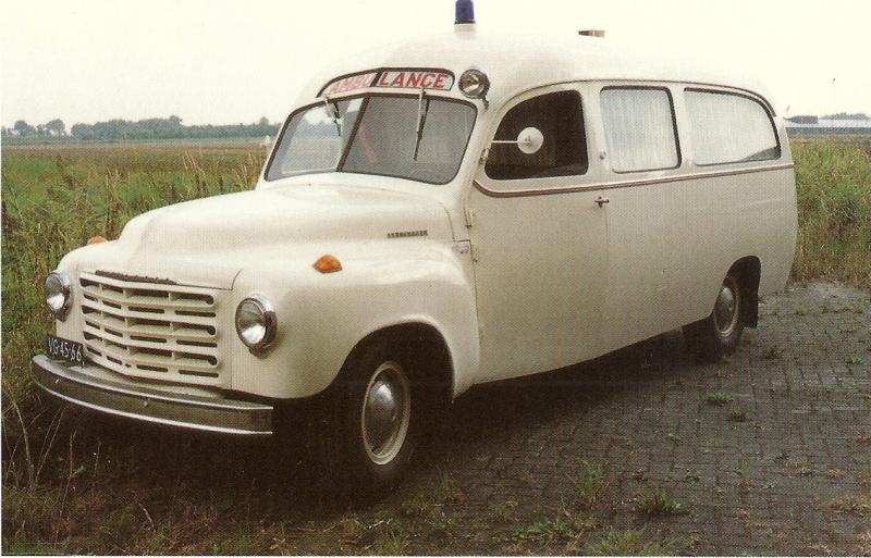 1950 Ambulance Studebaker 2R10-22 Trapman ambulance