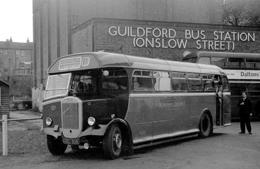 1950 Dennis Lancet III Strachan B38R Guildford Onslow Street