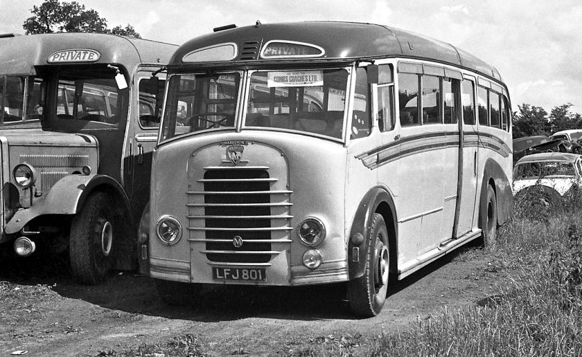 1950 Gurney Nutting coach body on a Maudslay Marathon III chassis