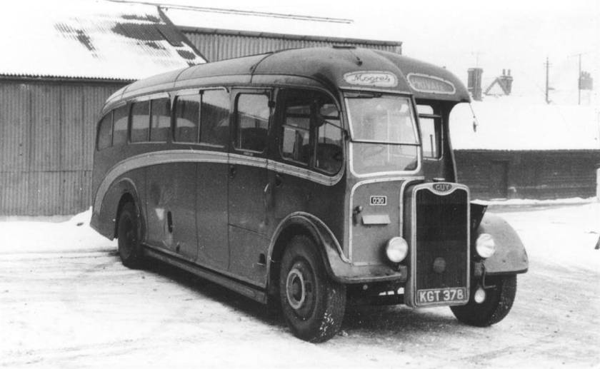 1950 Guy Arab III with Strachan C35F body