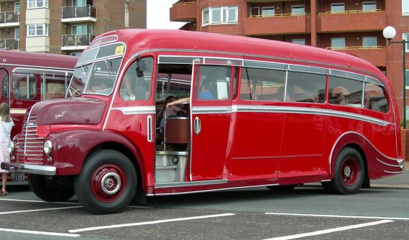 1950 Leyland Comet CP01 with Harrington 'Dorsal Fin' C29F bodywork