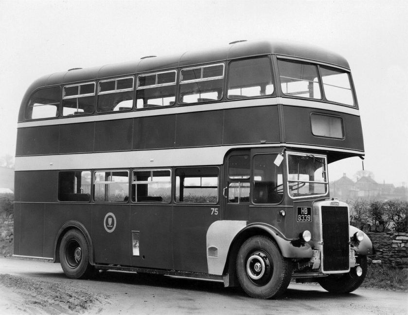 1950 Leyland Double Decker Bus at Longwell Green Coach Works BS30.