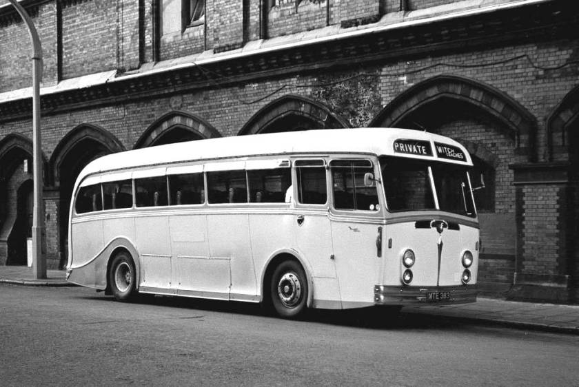 1950 Leyland Royal Tiger of the PSU1-15 variant with unique Harrington Explorer C39F bodywork