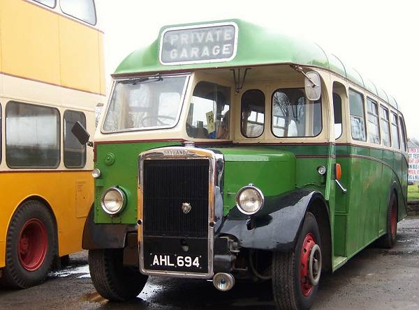 1950 Leyland Tiger PS1 with a 35 seat Barnaby body, AHL694